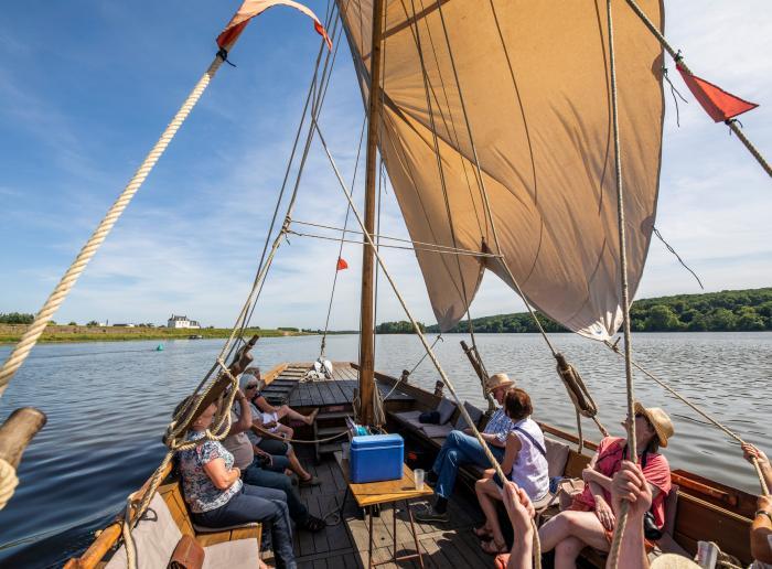 de naviguer en toue sur la Loire
