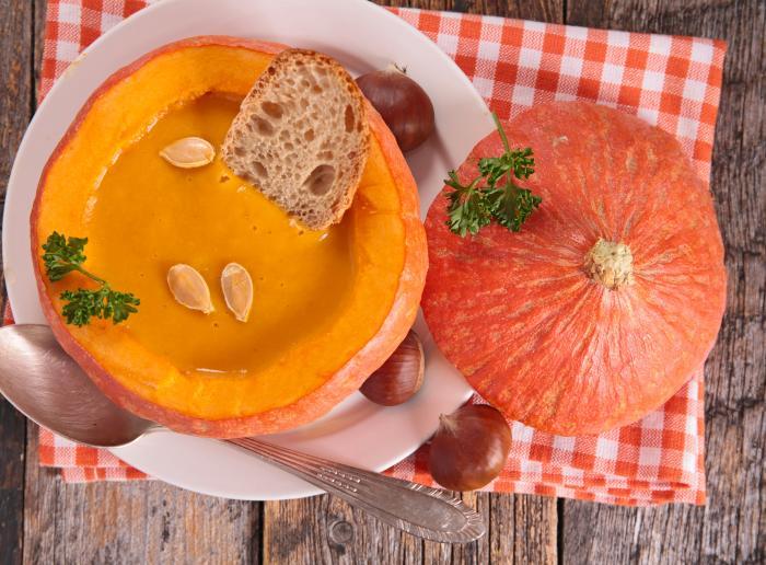 Recette La soupe de potiron
